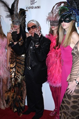 roberto and eva cavalli and giuseppe cipriani along with roberto cavalli vodka host a halloween party at cipriani 42nd st